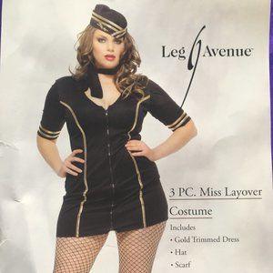 3 PC. Miss Layover Halloween Costume